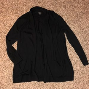 Talbots Long Black Cardigan